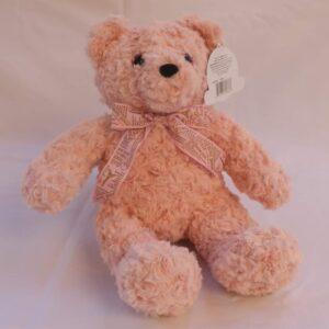 Oso de peluche fancy teddy rosa claro