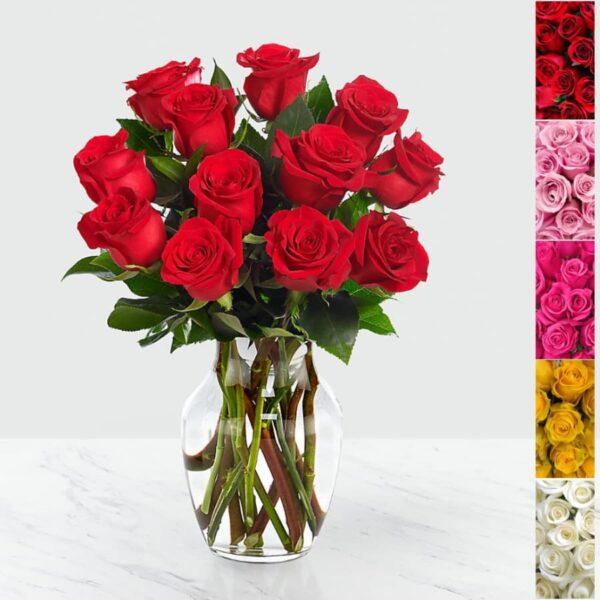 arreglo de 24 rosas