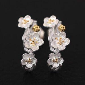 Conjunto de joyas de flores